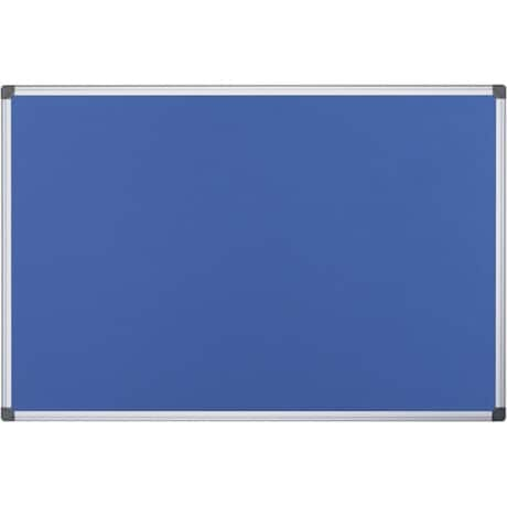 Office Depot Aluminium Frame Notice Board Blue 600 H x 900 W mm