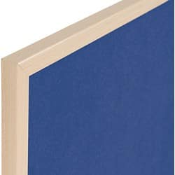 Niceday Wood Framed Felt Notice Board  Blue 900 H x 1200 W mm