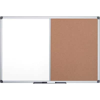Office Depot Wall Mountable Combination Board 1200 x 900mm Brown & White