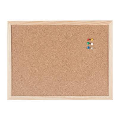 Niceday Wall Mountable Cork Board 40 x 30cm Brown