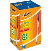 BIC Round Stic Ecolutions Ballpoint Pen Medium 0.4 mm Blue Pack of 60