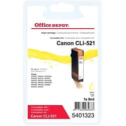 Office Depot Compatible Canon CLI-521Y Ink Cartridge Yellow