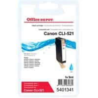 Office Depot Compatible Canon CLI-521C Ink Cartridge Cyan