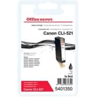 Office Depot Compatible Canon CLI-521BK Ink Cartridge Black