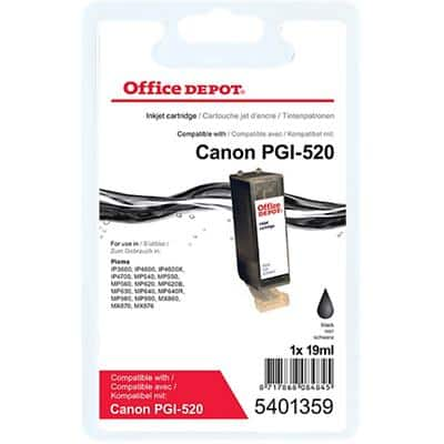 Office Depot Compatible Canon PGI-520BK Ink Cartridge Black