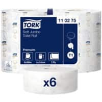 Tork Toilet Rolls T1 Premium 2 Ply 6 Rolls of 1800 Sheets