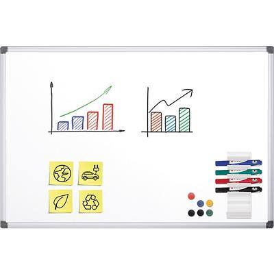 Office Depot Wall Mountable Magnetic Whiteboard Enamel 150 x 100 cm