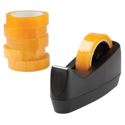 Tape and Dispenser Bundle Black, Yellow