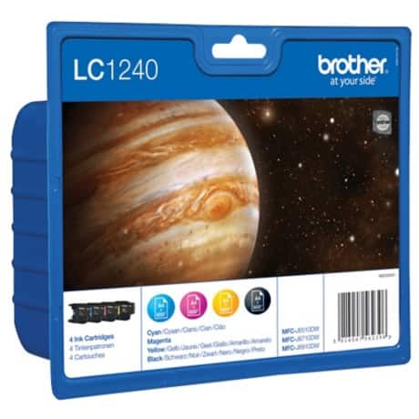 Brother LC1240 Original Ink Cartridge Black, Cyan, Magenta, Yellow 4 pieces