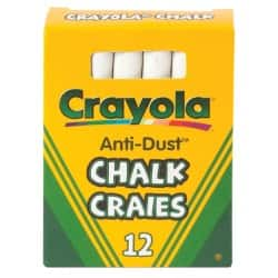Crayola Anti-dust White Chalk