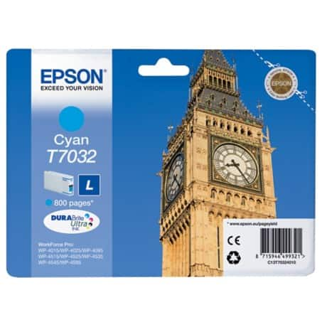 Epson T7032 Original Ink Cartridge C13T70324010 Cyan