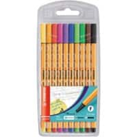 STABILO Point 88 Fineliner Pack of 10 Assorted