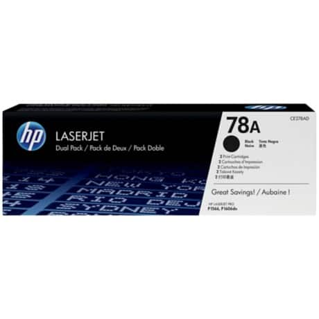 HP 78A Original Toner Cartridge CE278AD Black 2 pieces