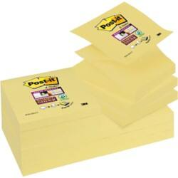 Post-it Z-Notes 76 x 76 mm Yellow 12 Pieces of 90 Sheets