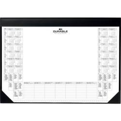 Durable Black Desk Mat With Calendar Pad
