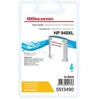 Office Depot Compatible HP 940XL Ink Cartridge C4907AE Cyan