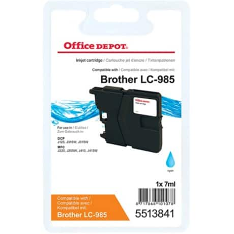 Office Depot Compatible Brother LC985C Ink Cartridge Cyan