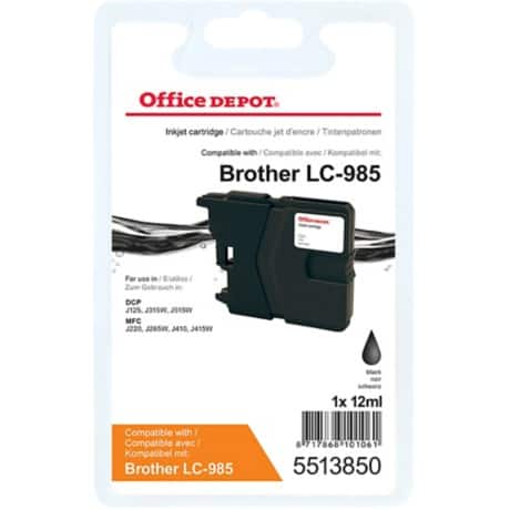 Office Depot Compatible Brother LC985BK Ink Cartridge Black