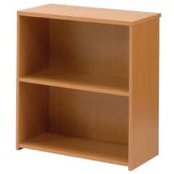 Classic low bookcase in beech-effect