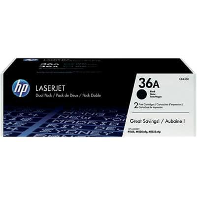 HP 36A Original Toner Cartridge CB436AD Black 2 Pieces