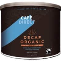 Café Direct Decaf Organic Instant Ground Coffee Tin Freeze Dried 500g
