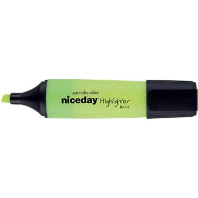 Niceday Highlighter HC1-5 Yellow Pack 4