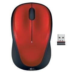 Logitech M235 wireless Ergonomic mouse – red