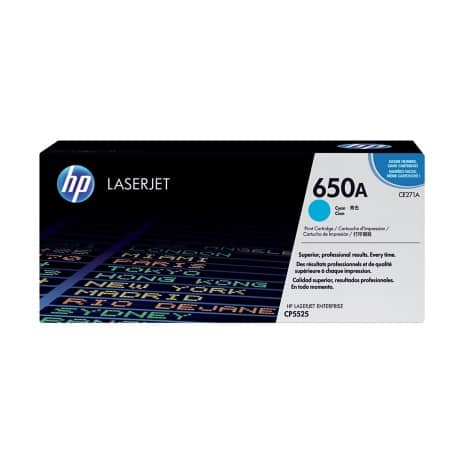 HP 650A Original Toner Cartridge CE271A Cyan