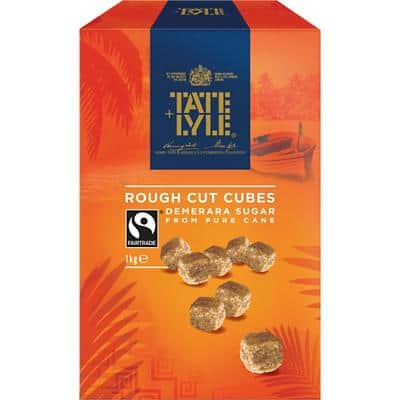 Tate & Lyle Sugar Cubes Rough Cut Brown 1 kg
