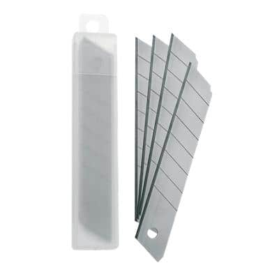 Office Depot Refill Blades 18mm Silver Pack of 10