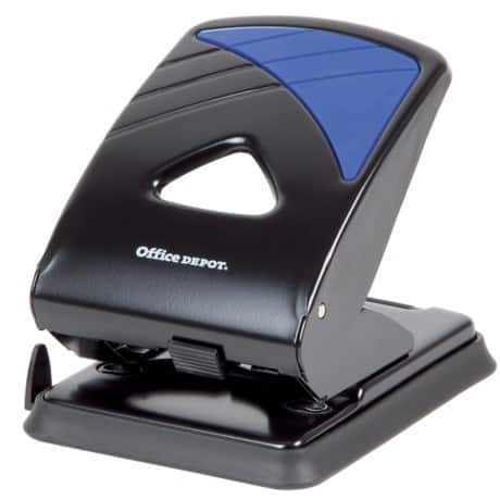 Office Depot Metal Two Hole Punch - Up to 40 Sheet Capacity
