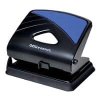 Office Depot 2 Hole Punch 96W0 Black, Blue 30 Sheets