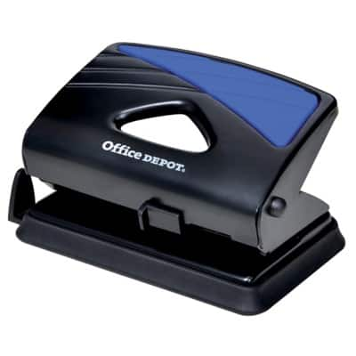 Office Depot Hole Punch 91W0 Black, Blue 20 Sheets
