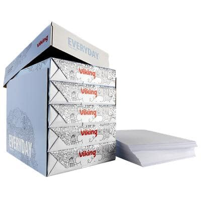 Viking Everyday Copy Paper A4 80gsm White 5 Packs of 500 Sheets