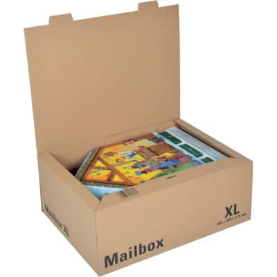 ColomPac Mail-Box Shipment Box Brown 335 x 460 x 175 mm 5 Pieces