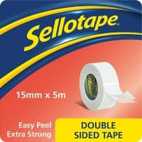 Sellotape Double Sided Tape Double Sided 5 m White