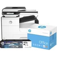 HP Printer Pagewide Pro 477dw + HP 973X Original Ink Black +  2500 sheets HP Office Printer Paper A4