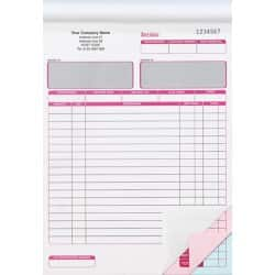 Ease-Apart Personalised Invoice Book 3 Part 203 x 279 mm 50 Sets Per Book