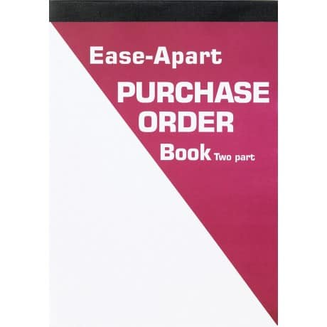 Ease-Apart Personalised Purchase Order Book 2 Part 203 x 279 mm 50 Sets Per Book