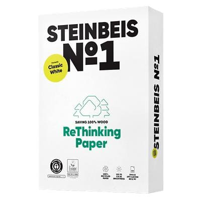 Steinbeis Recycled Classic Printer Paper A3 80gsm White 500 Sheets