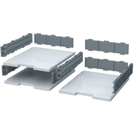 Exacomptac drawer Modulodoc grey