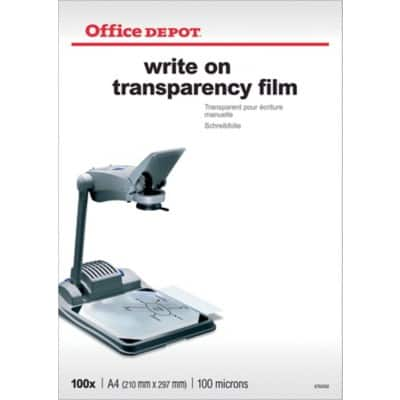 Office Depot Transparency Film A4 297 x 210 mm Transparent 100 Sheets