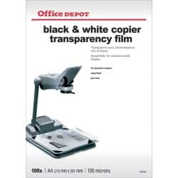Office Depot Transparency film 100 Micron A4 297 x 210 mm Transparent 100 sheets