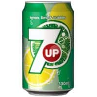 7UP Soft Drink Can Lemon & Lime 330ml 24 Pieces