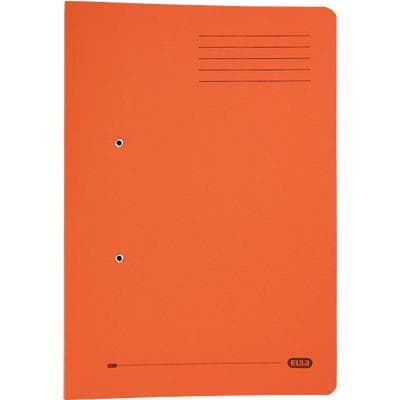 ELBA Spring Pocket File Foolscap Orange Manila 25 Pieces