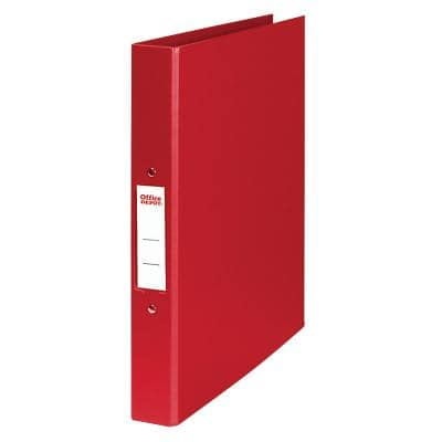 Office Depot Ring Binder Polypropylene A4 2 ring 25 mm Red