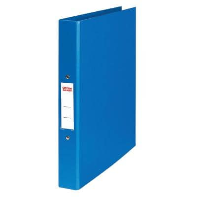 Office Depot Ring Binder 2 Rings 25 mm Polypropylene Blue