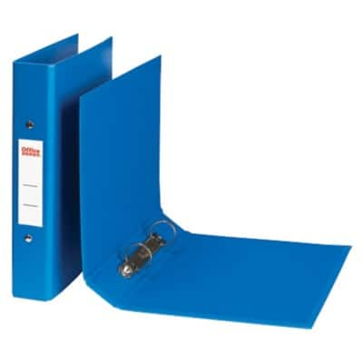 Office Depot Ring Binder 25 mm Plastic on Board 2 ring A4 Blue