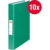 Office Depot Ring Binder 2 Rings Paper on Board Green 10 Pieces