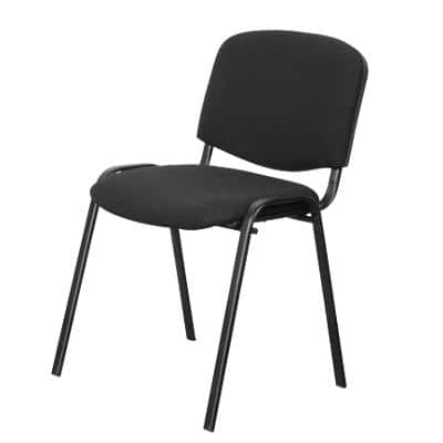 Niceday Stacking Chair ISO Fabric Black 4 Pieces